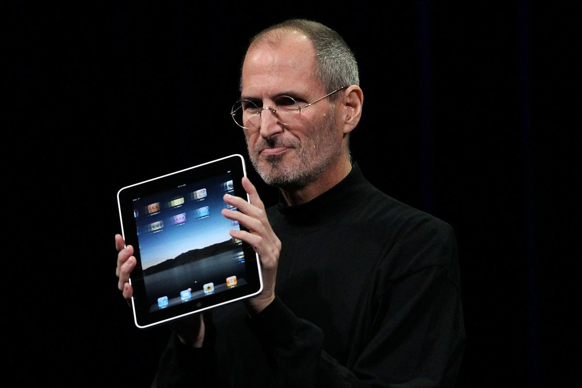 "The ""My tablet's better than yours"" smirk."