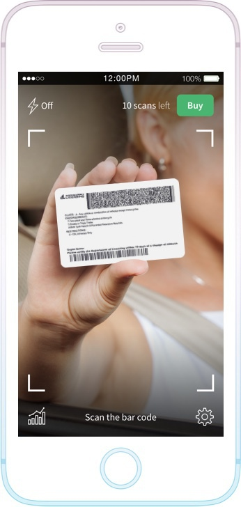 US Drivers license scanning