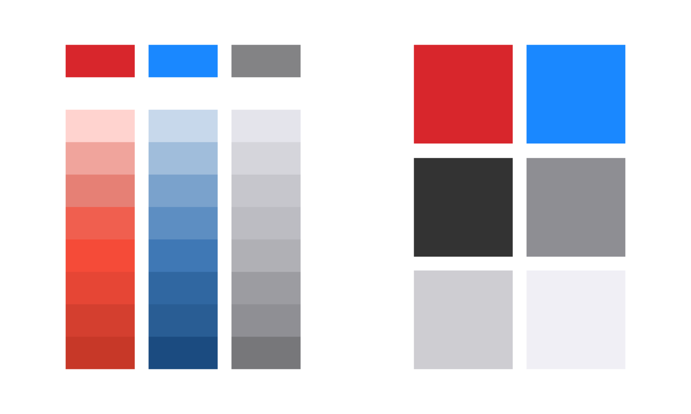 Color palette on Android and iOS
