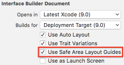 Interface builder document Xcode