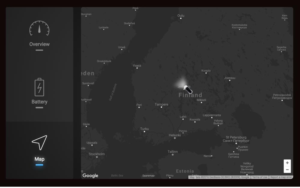 Tesla widget map