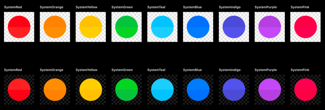 iOS 13 dynamic system colors