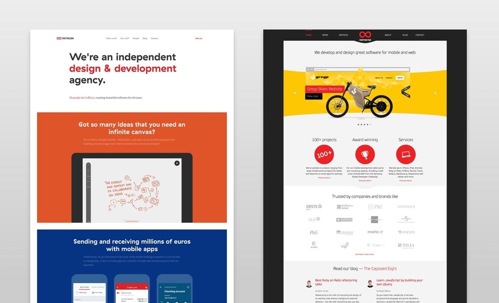 New vs. old Infinum website
