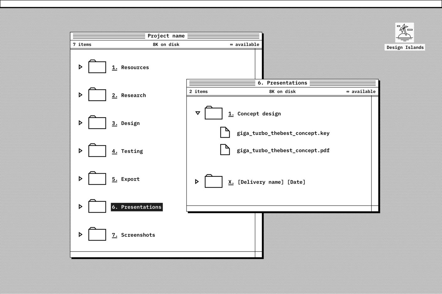Presentations folder